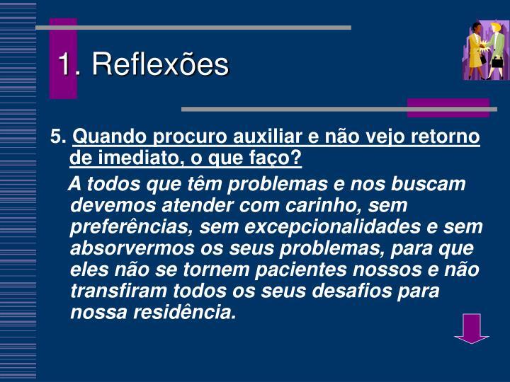1. Reflexões