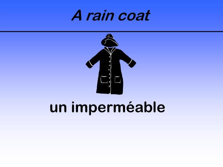 A rain coat