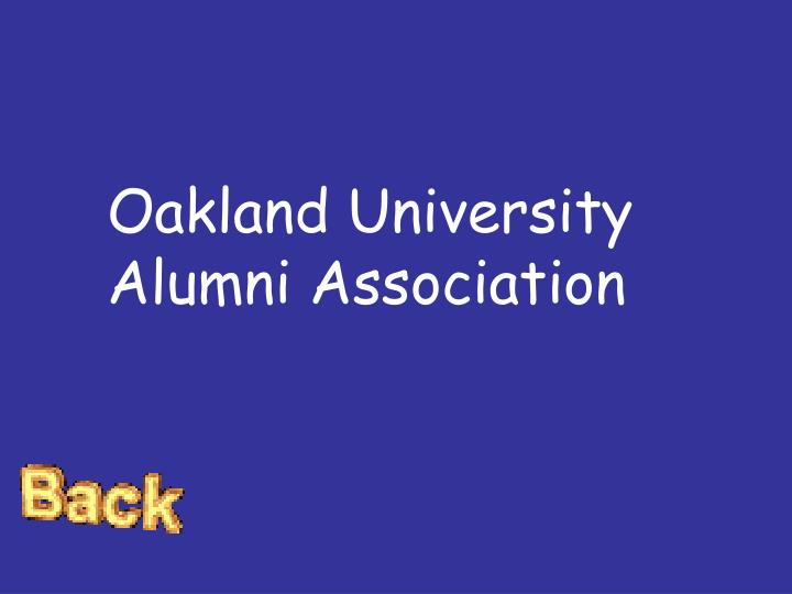 Oakland University Alumni Association