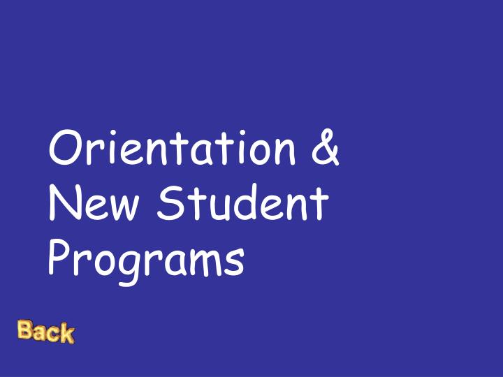 Orientation & New Student Programs