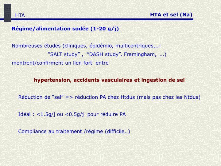HTA et sel (Na)