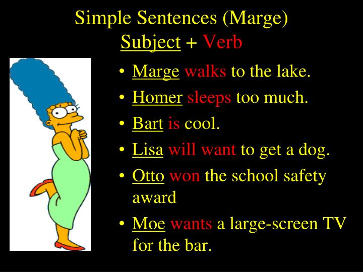 Simple Sentences (Marge)