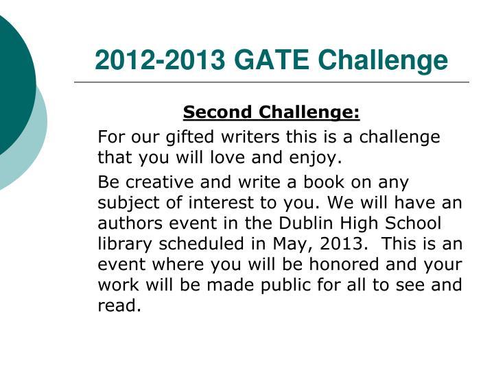 2012-2013 GATE Challenge