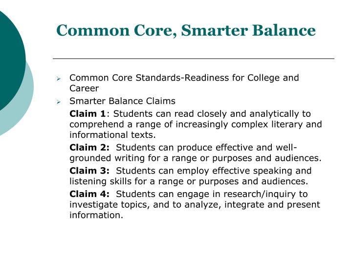 Common Core, Smarter Balance