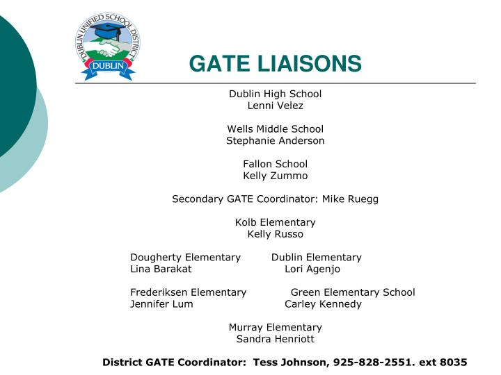 GATE LIAISONS