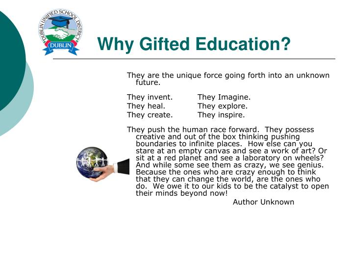 Why Gifted Education?