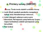 a primery survey abcde