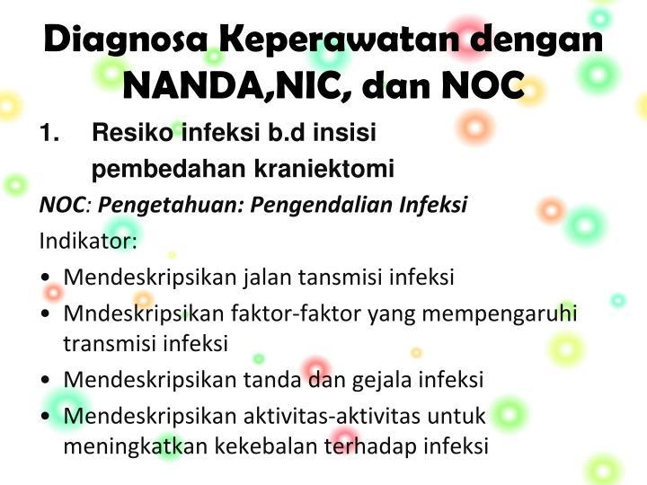Diagnosa Keperawatan dengan NANDA,NIC, dan NOC