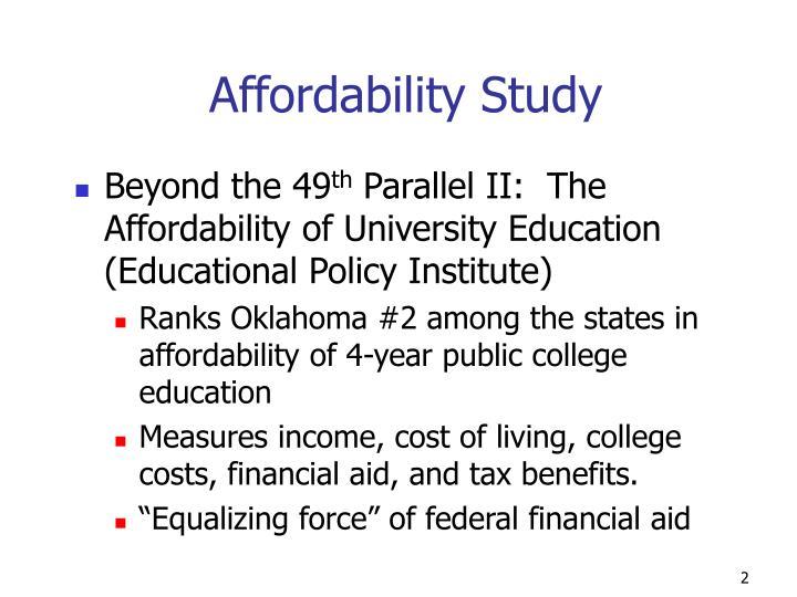 Affordability Study