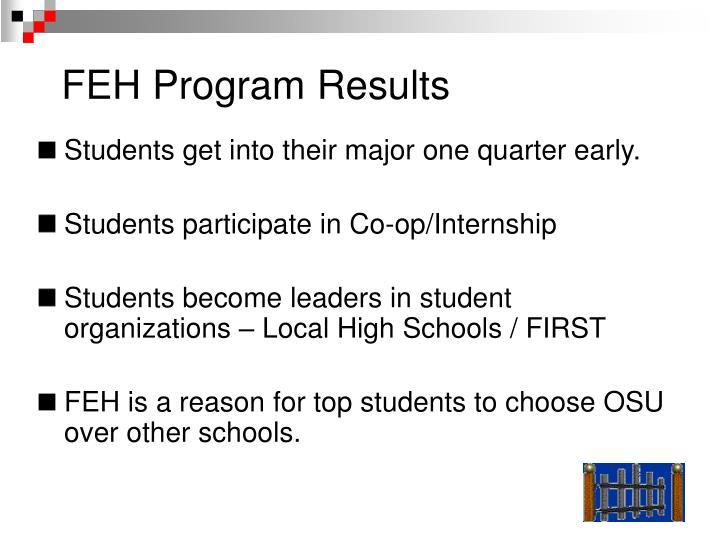 FEH Program Results