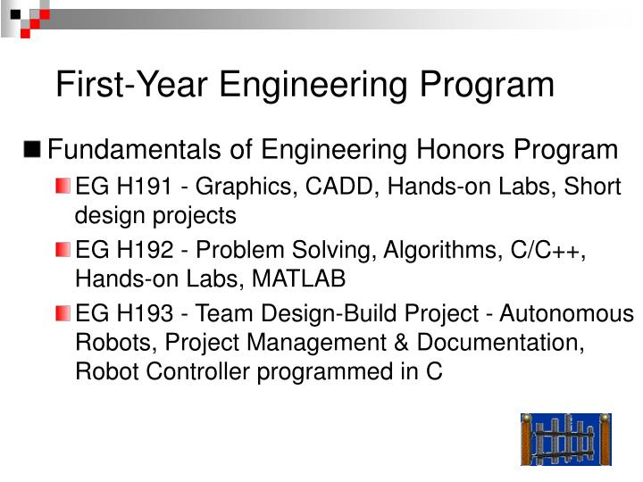 First-Year Engineering Program