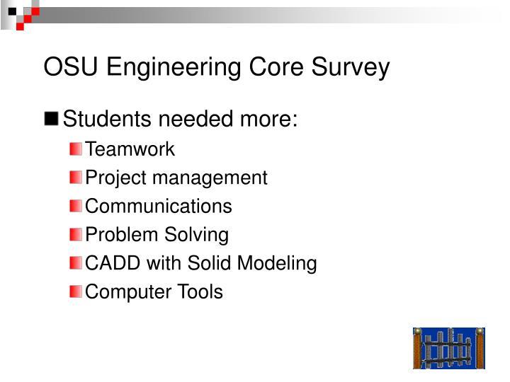 OSU Engineering Core Survey