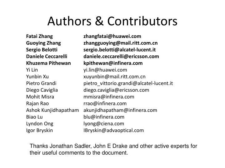 Authors & Contributors
