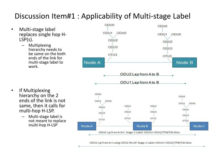 Discussion Item#1 : Applicability of Multi-stage Label