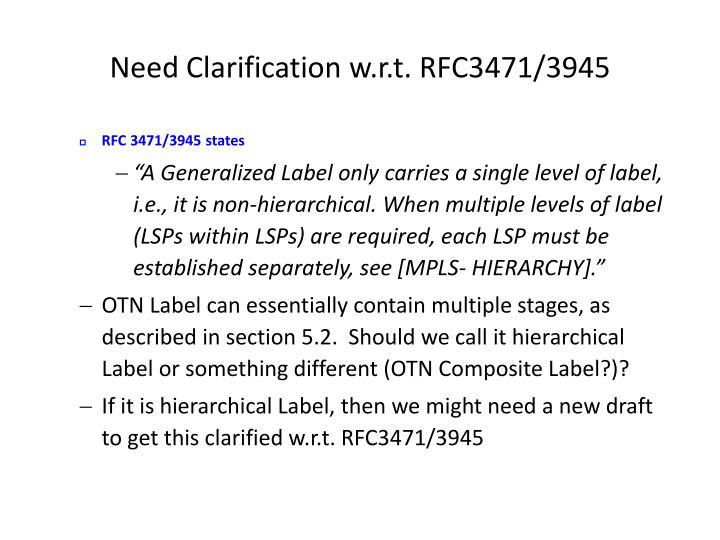 Need Clarification w.r.t. RFC3471