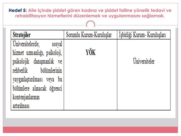 Hedef 5: