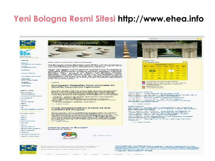 Yeni Bologna Resmi Sitesi