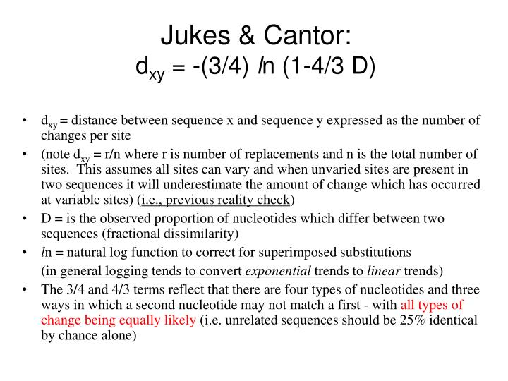 Jukes & Cantor: