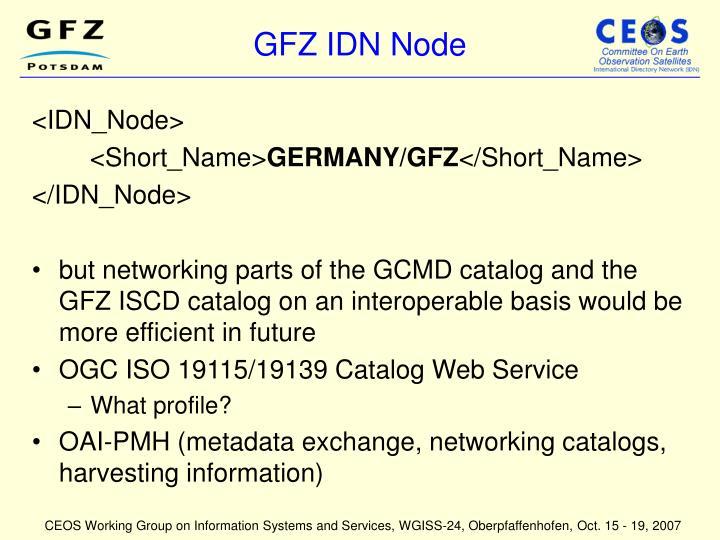 GFZ IDN Node