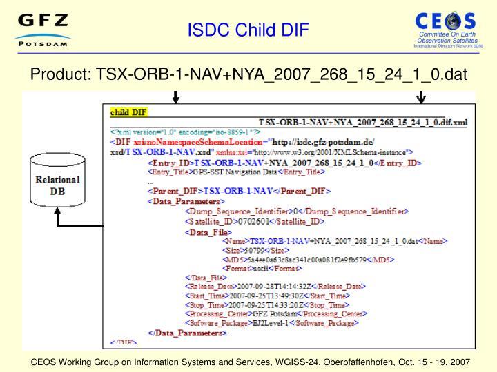 ISDC Child DIF