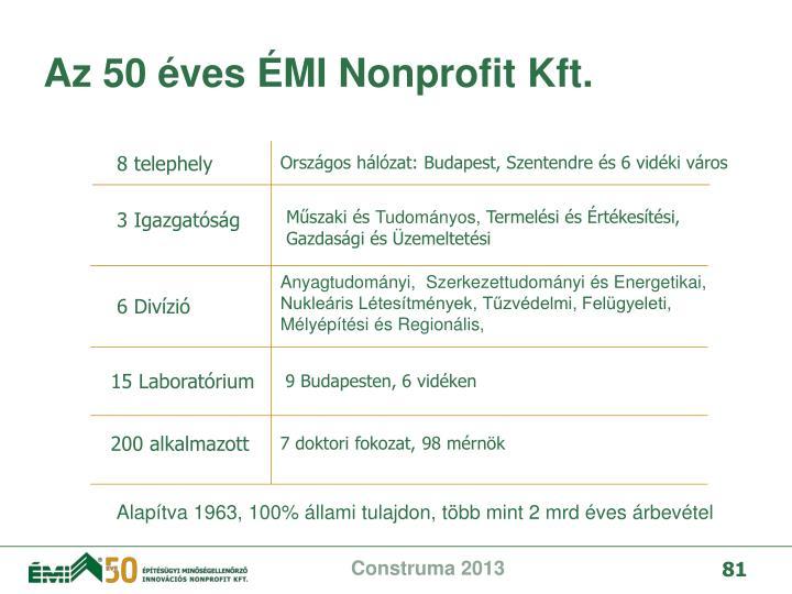 Az 50 ves MI Nonprofit Kft.