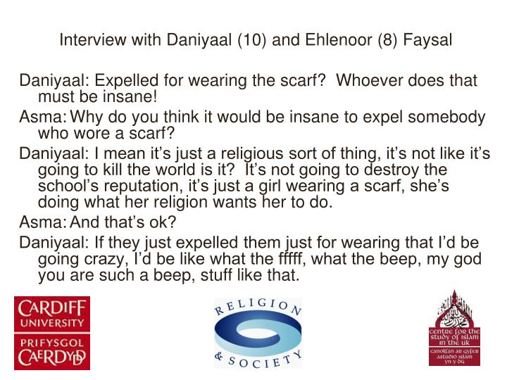 Interview with Daniyaal (10) and Ehlenoor (8) Faysal