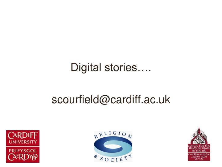 Digital stories….