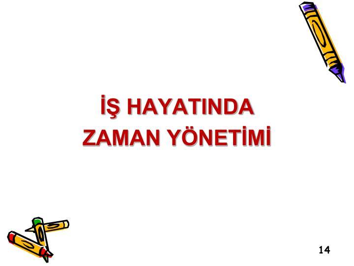 İŞ HAYATINDA