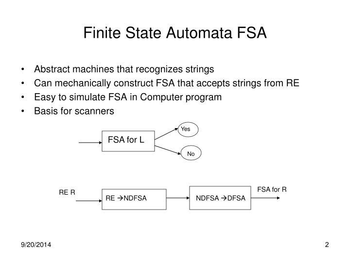 Finite State Automata FSA