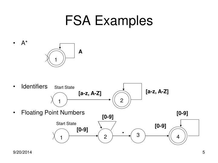 FSA Examples