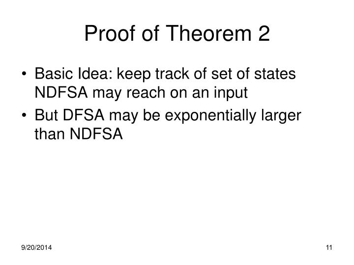 Proof of Theorem 2