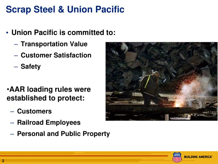 Scrap steel union pacific