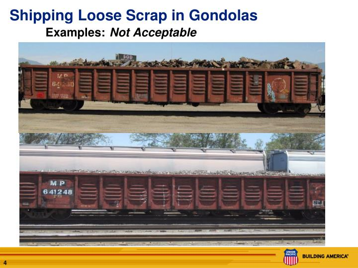 Shipping Loose Scrap in Gondolas