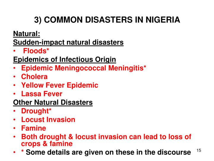 3) COMMON DISASTERS IN NIGERIA