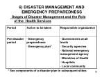 6 disaster management and emergency preparedness
