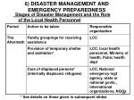 6 disaster management and emergency preparedness8