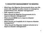 7 disaster management in nigeria