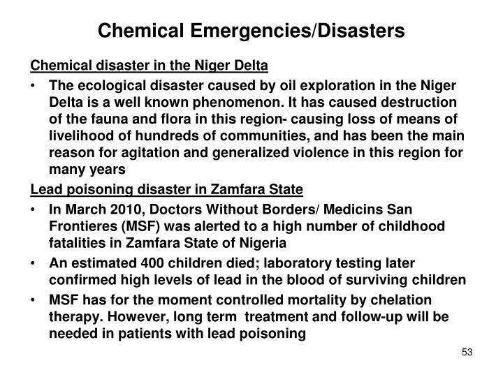 Chemical Emergencies/Disasters