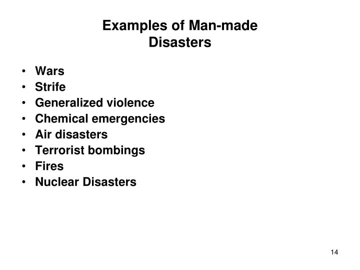 Examples of Man-made