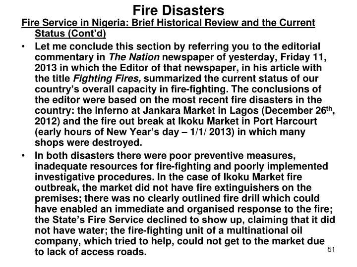 Fire Disasters