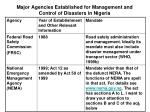 major agencies established for management and control of disasters in nigeria1
