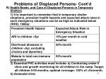 problems of displaced persons cont d6