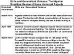 strife and generalized violence the nigerian situation review of some historical aspects3