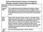 strife and generalized violence the nigerian situation review of some historical aspects4
