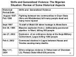 strife and generalized violence the nigerian situation review of some historical aspects5
