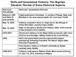 strife and generalized violence the nigerian situation review of some historical aspects6