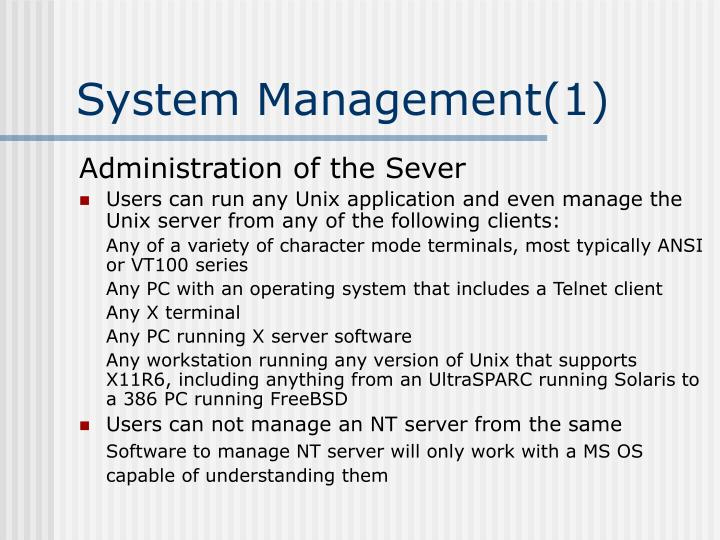 System Management(1)
