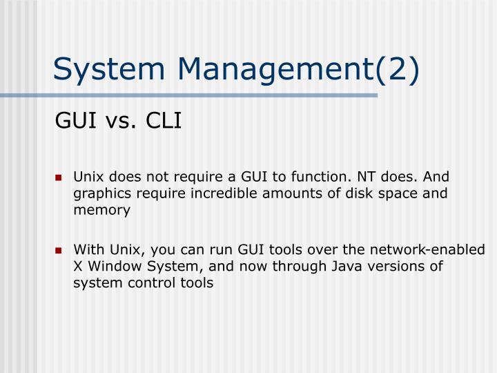 System Management(2)