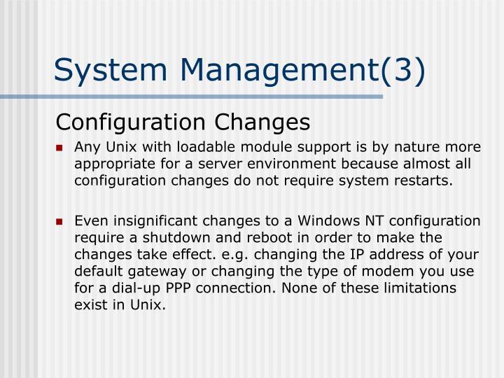 System Management(3)