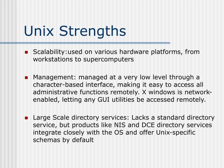 Unix Strengths